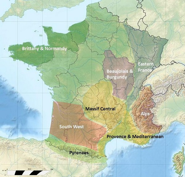 West Of France Map.Self Guided Independent Walking Holidays In France Spain Italy Uk
